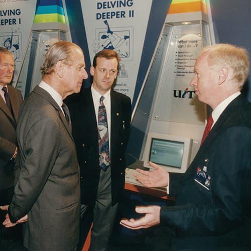 1995 – Duke of Edinburgh visits Unipart House