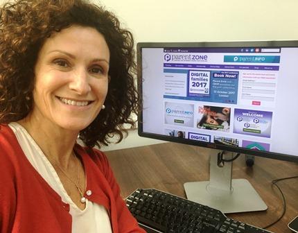 Deborah Astles launching the Digital Parenting initiative